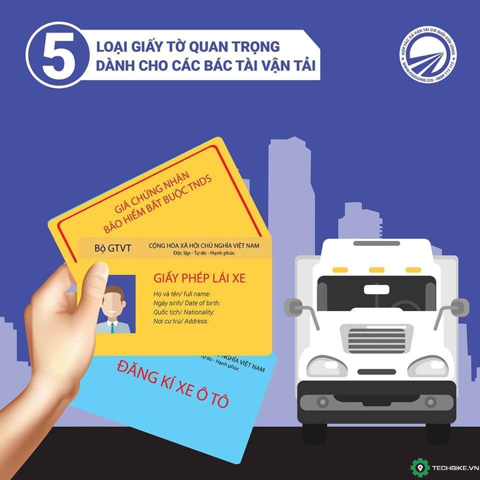 5 giấy tờ bắt buộc phải có dành cho tài xế hoạt động kinh doanh vận tải.jpg
