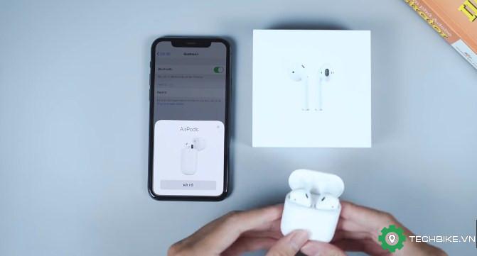 Bấm connect để kết nối Apple AirPods với iPhone