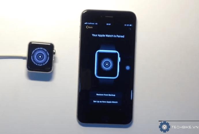 ghép đôi đồng bộ đồng hồ Apple watch với iPhone rất nhanh
