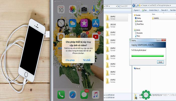 USB sử dụng Windows Plug-and-Play (Không có iTunes)