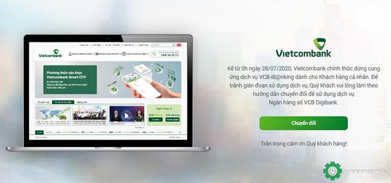 Vietcombank Internet & Mobile Banking ngưng hoạt động và cách chuyển đổi sang Digibank